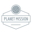 planet concept logo simple gray style vector image vector image