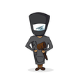 Profession black smith worker cartoon figure vector image