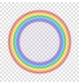 Rainbow icon realistic 7 vector image