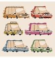 Retro Cartoon Cars Set vector image vector image