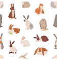 seamless animal pattern with different cute vector image