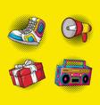 Set icons pop art style