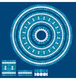 set mosaic patterns - blue ceramic round frames vector image vector image