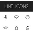 set of 6 editable kitchenware icons includes vector image