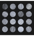 Set of scratched circles texture vector image