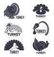 set turkey stylized graphic logo templates vector image vector image