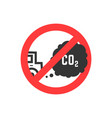 sign prohibiting emissions carbon dioxide vector image vector image