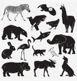 silhouettes of animals 1 vector image vector image