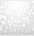 silver glitter bokeh vector image vector image
