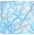 Snowflake pattern with tree Winter vector image