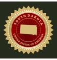 Star label South Dakota vector image vector image