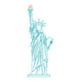 statue of liberty thin line vector image vector image