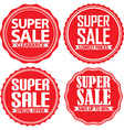 Super sale red label set vector image