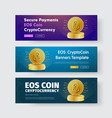 template horizontal web banners with gold vector image