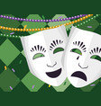theatrical mask with beads vector image vector image