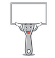 up board fork character cartoon style vector image vector image