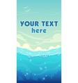 Vertical sea background vector image vector image