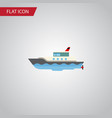 isolated yacht flat icon sailboat element vector image