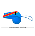 A Whistle of Democratic Republic of The Congo vector image