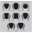 shields laurel wreaths and ribbons vector image