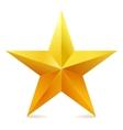 Single golden star shine on white background vector image