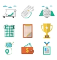 Colored icons for golf vector image