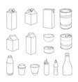 food packaging template set different package vector image