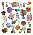 school element doodle vector image