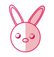 shadow rabbit face cartoon vector image