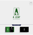 a initial leaf eco nature environment simple logo vector image vector image