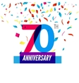 Anniversary design 70th icon anniversary vector image