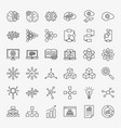 artificial intelligence line icons set vector image