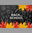 back to school sale poster autumn fall vector image vector image