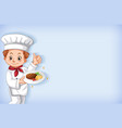 background template design with happy chef