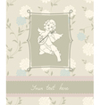 background with angel in vintage style vector image vector image