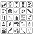 Basic Cosmetic Icons Set vector image