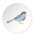 bird icon circle vector image