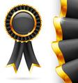Black award ribbon vector image vector image