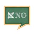 Blackboard with word No vector image vector image