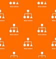 block scheme pattern orange vector image vector image