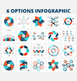 bundle infographics elements business vector image vector image