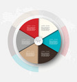 business template infographicscircle is vector image vector image
