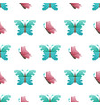 butterflies flat seamless pattern on white vector image vector image