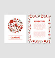 camping adventure banner templates set with hiking vector image vector image