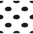 chocolate chip cookies icon in black style vector image vector image