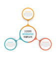circle diagram with three steps vector image vector image