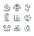 corporate commerce icon pack vector image vector image