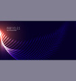 digital glowing particles mesh technology vector image