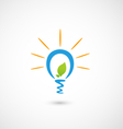 Eco bulb light icon vector image vector image