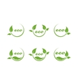 eco or bio friendly company logo green leaves vector image vector image